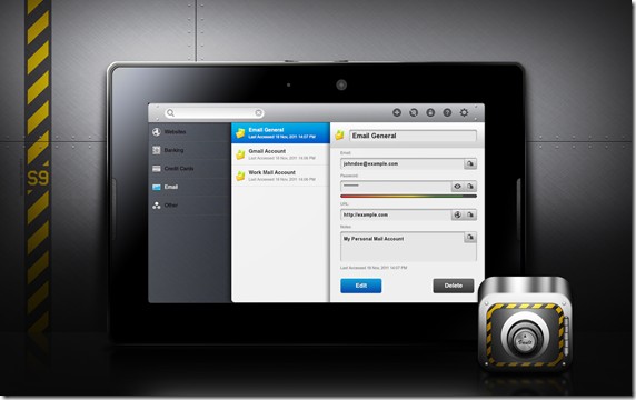 PlayBook- Vault Password Manager 1