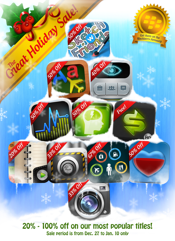 BlackBerry App World Holiday Sale - XLabz